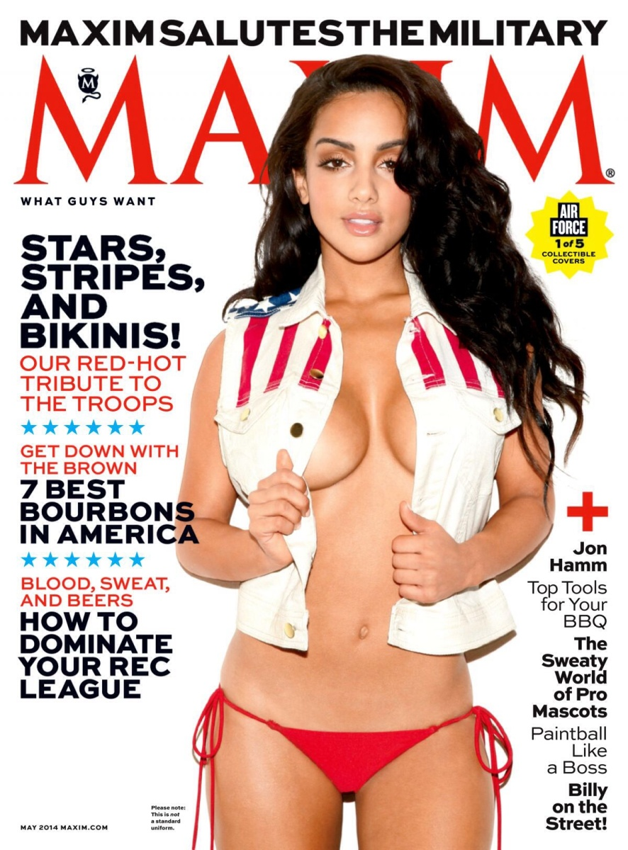 Atmospheric Pressure Rises as Biloxi's Brittney Alger Goes Stars and Stripes for May 2014 Maxim Cover #Hott #HometownHottie
