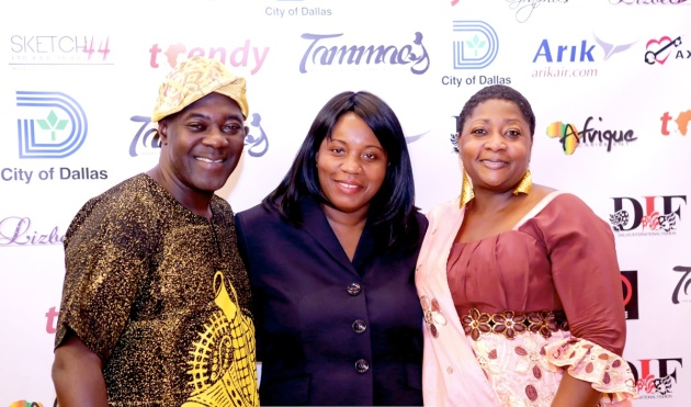 Publisher Tosan Aduayi, Kimma Wheh of Tekay Designs, Regina Onyeibe(The City of Dallas Africa Laison Officer)